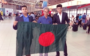 LSBD Students with Bangladesh Flag